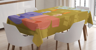 Artistic Candles Tablecloth