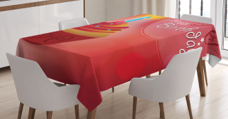 Sun Stars Candle Tablecloth