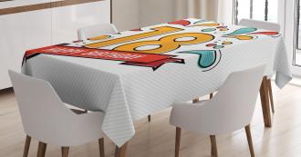 Eighteenth Birthday Tablecloth