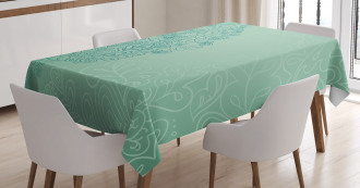 Mixed Leaves Botanical Tablecloth