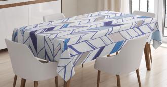 Boho Zigzag Sketchy Line Tablecloth