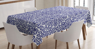 Ethnic Blooms Hearts Tablecloth