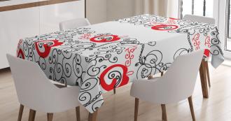 Sketchy Birds Swirls Tablecloth