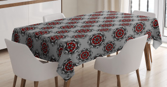 Moroccan Flower Rose Tablecloth