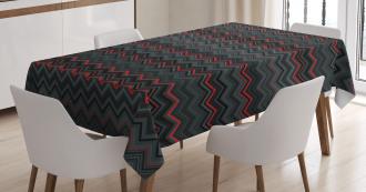 Zigzag Chevron Layers Tablecloth
