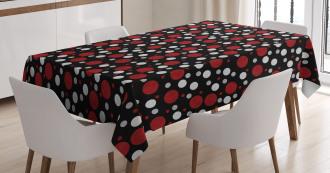 Snow Like Polka Dots Tablecloth