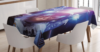 Galaxy Eclipse Saturn Tablecloth