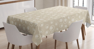 Water Inspired Bubble Forms Tablecloth