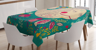 Happy Sea Giant Blooms Tablecloth