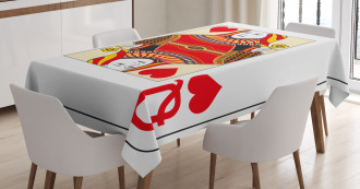 Playing Poker Card Deck Tablecloth