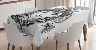 Folk Fantasy Figure Art Tablecloth