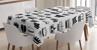 Various Crowns Imperial Tablecloth