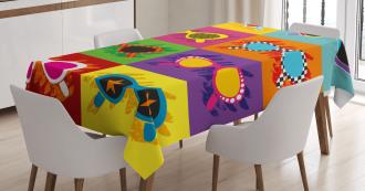 Colorful Pop Sunglasses Tablecloth