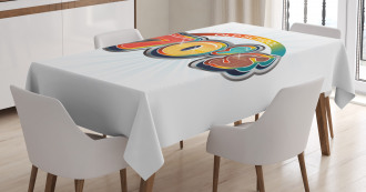 70s Old School Icon Tablecloth