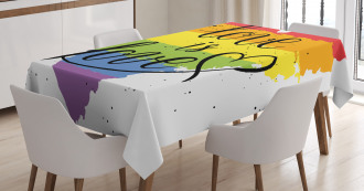 Love is Love Art LGBT Tablecloth
