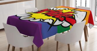 Pop Art Comics Pride Tablecloth