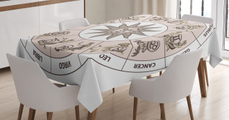 Circle of Zodiac Sign Tablecloth