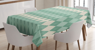 Triangle Shapes Abstract Tablecloth