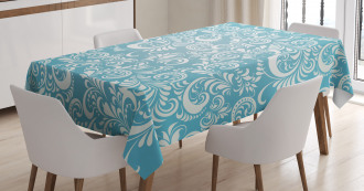 Floral Frosty Pattern Tablecloth