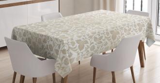 Retro Swirl Flowers Tablecloth