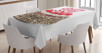 New Age Cake Greeting Tablecloth