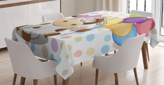Baby Cow and Balloons Tablecloth