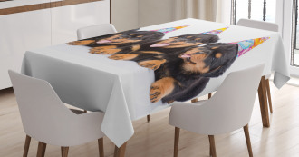 Birthday Dogs Hats Tablecloth