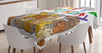Streets Dogs Animals Tablecloth