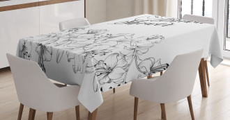 Bride Party Flowers Tablecloth