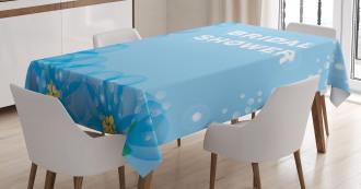 Bridal Flowers Tablecloth