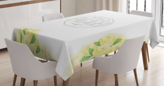 Roses and Leaves Tablecloth