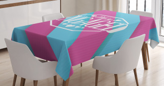 Quote on Stripes Tablecloth