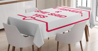 Email Like Quote Tablecloth