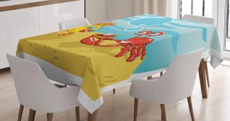 Fish Crab Cartoon Tablecloth