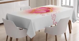 Romantic Heart Tablecloth