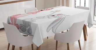 Rabbits Wedding Tablecloth