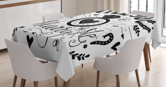 Hearts Marriage Tablecloth