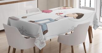 Romantic Couple Tablecloth