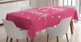 Vintage Family Lettering Tablecloth