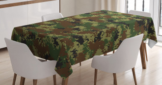 Grunge Graphic Camouflage Tablecloth