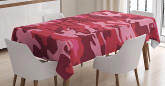 Camo Texture Autumn Theme Tablecloth