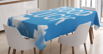 Message Sky Clouds Tablecloth