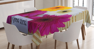 Good Luck Colorful Tablecloth