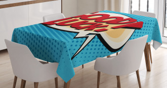 Comic Book Strip Tablecloth