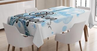 Air Balloon Paris Tablecloth