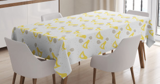 Birds Polka Hearts Tablecloth