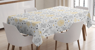 Roses Flowers Tablecloth