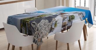 Oia Village in Santorini Tablecloth