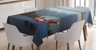 Tropical Island Flowers Tablecloth