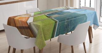 Patio and Garden Mountain Tablecloth